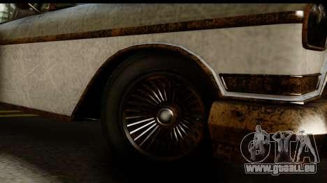 GTA 5 Declasse Tornado Worn pour GTA San Andreas vue arrière