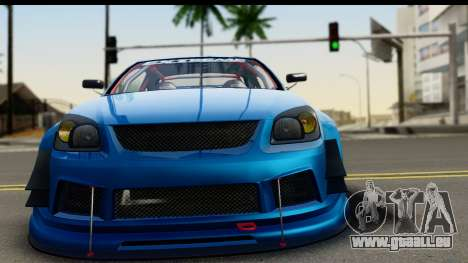 Chevrolet Cobalt SS Mio Itasha pour GTA San Andreas sur la vue arrière gauche
