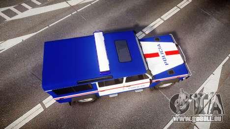 Land Rover Defender Policia PSP [ELS] für GTA 4 rechte Ansicht