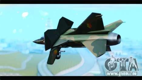 MIG-23ML Yuktobanian Air Force pour GTA San Andreas laissé vue