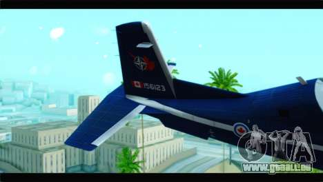 Beechcraft T-6 Texan II Royal Canadian Air Force für GTA San Andreas zurück linke Ansicht