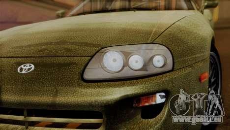 Toyota Supra Turbo (JZA80) 1998 FF7 Edition für GTA San Andreas Rückansicht