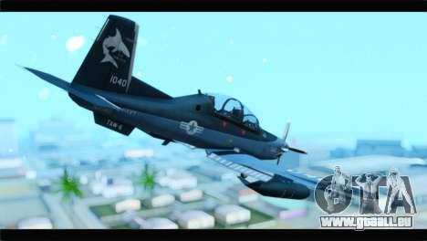 Beechcraft T-6 Texan II United States Navy 2 pour GTA San Andreas laissé vue