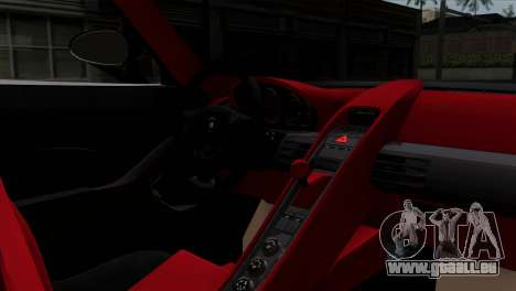 Gemballa Mirage GT v1 Windows Down pour GTA San Andreas sur la vue arrière gauche