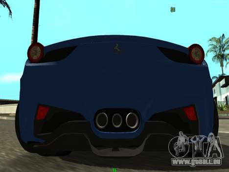 Ferrari 458 Italia pour GTA San Andreas vue de droite