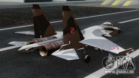SU-37 Flanker-F Polish Air Force pour GTA San Andreas laissé vue