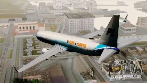 Boeing B737-800 Pilot Life Boeing Merge für GTA San Andreas linke Ansicht