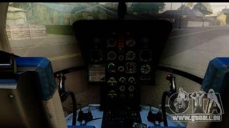 MBB Bo-105 Red Bull für GTA San Andreas Rückansicht