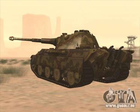 Pz.Kpfw. V Panther II Desert Camo pour GTA San Andreas sur la vue arrière gauche