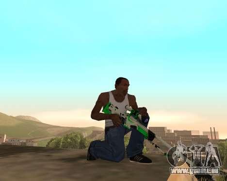 Green Pack Asiimov CS:GO pour GTA San Andreas