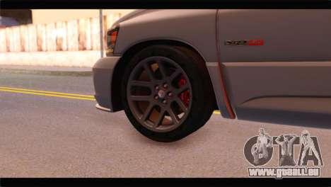 Dodge Ram SRT10 2006 Stock für GTA San Andreas zurück linke Ansicht