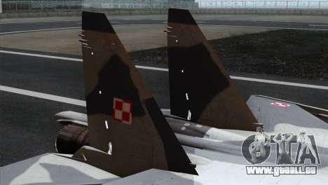 SU-37 Flanker-F Polish Air Force pour GTA San Andreas sur la vue arrière gauche