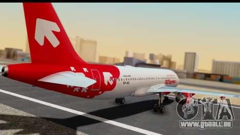 Airbus A320-200 OLT Express pour GTA San Andreas laissé vue