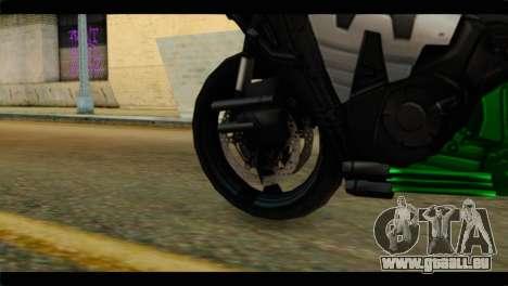 Honda CBR1000RR für GTA San Andreas zurück linke Ansicht