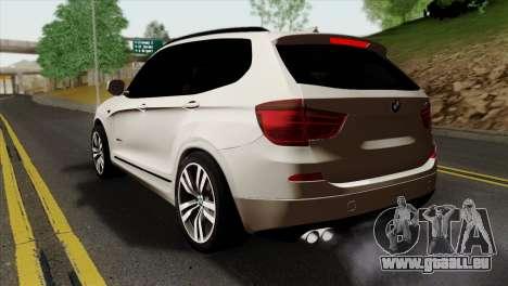 BMW X3 F25 2012 für GTA San Andreas linke Ansicht