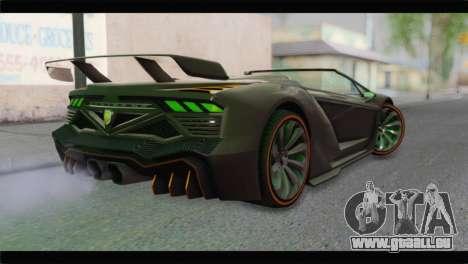 GTA 5 Pegassi Zentorno Spider für GTA San Andreas linke Ansicht