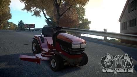 GTA V Lawn Mower pour GTA 4 Vue arrière