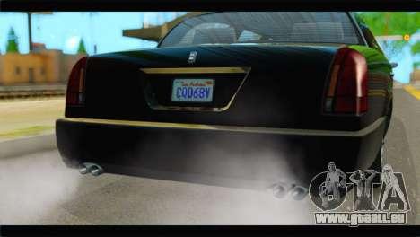 GTA 5 Dundreary Stretch IVF pour GTA San Andreas vue arrière