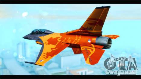 F-16D Fighting Falcon Dutch Demo Team J-015 pour GTA San Andreas laissé vue