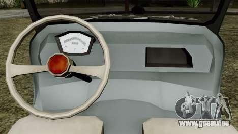 Vespa 400 für GTA San Andreas Rückansicht