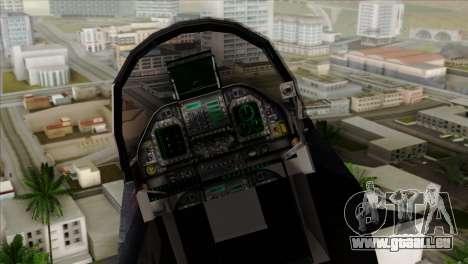 FA-18 HARV für GTA San Andreas Rückansicht