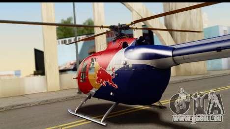 MBB Bo-105 Red Bull für GTA San Andreas rechten Ansicht