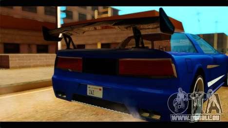 Infernus Rapide GTS pour GTA San Andreas vue arrière