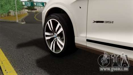 BMW X3 F25 2012 für GTA San Andreas zurück linke Ansicht