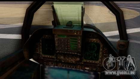McDonnell Douglas FA-18C Hornet VMFA-232 USMC pour GTA San Andreas sur la vue arrière gauche