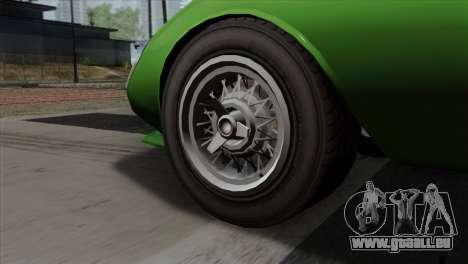 GTA 5 Grotti Stinger GT v2 SA Mobile pour GTA San Andreas sur la vue arrière gauche