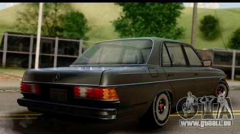 Mercedes-Benz 240 W123 Stance pour GTA San Andreas laissé vue