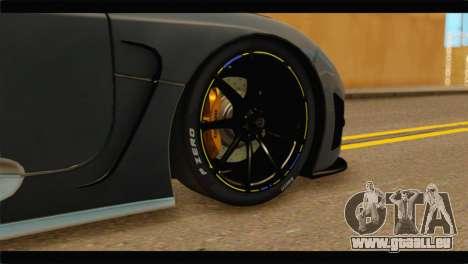 Koenigsegg Agera R 2011 Stock Version pour GTA San Andreas sur la vue arrière gauche