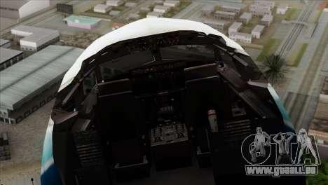 Boeing B737-800 Pilot Life Boeing Merge pour GTA San Andreas vue arrière