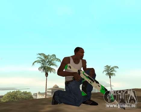 Green Pack Asiimov CS:GO pour GTA San Andreas sixième écran