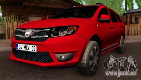 Dacia Logan MCV 2013 HQLM pour GTA San Andreas