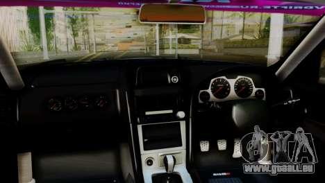Nissan Skyline GTR34 Tokage für GTA San Andreas rechten Ansicht