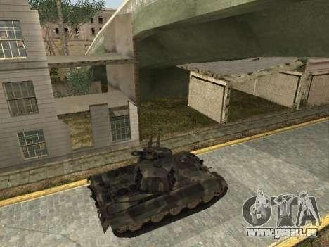 Panzerkampfwagen Tiger II pour GTA San Andreas vue de droite