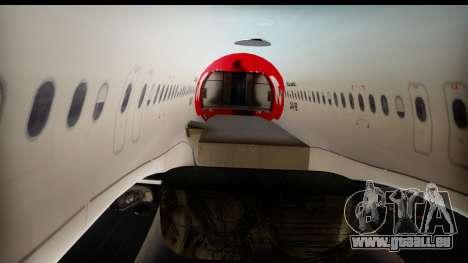Airbus A320-200 OLT Express pour GTA San Andreas vue intérieure
