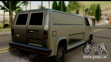 Burney Van pour GTA San Andreas laissé vue
