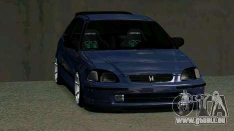 Honda Civic EK9 pour GTA San Andreas vue intérieure