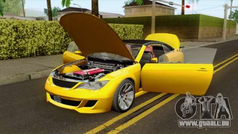 GTA 5 Ubermacht Zion XS Cabrio für GTA San Andreas Rückansicht