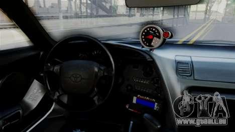 Toyota Supra 1998 FF7 pour GTA San Andreas vue de droite