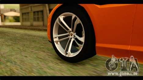 Lamborghini Estoque pour GTA San Andreas sur la vue arrière gauche