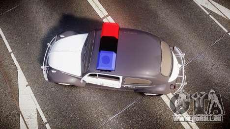 Volkswagen Fusca 1980 Military Police Sao Paulo für GTA 4 rechte Ansicht
