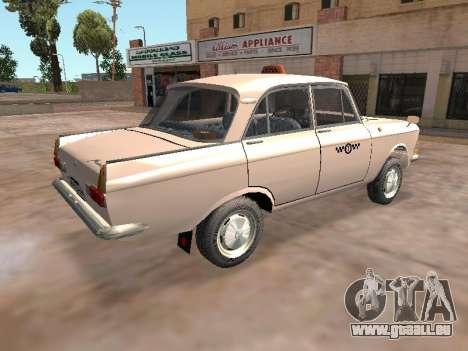 Moskwitsch 412 Cab für GTA San Andreas zurück linke Ansicht