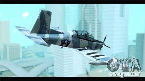 Beechcraft T-6 Texan II United States Air Force pour GTA San Andreas laissé vue