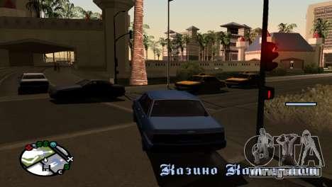 Nouvelles de l'ombre sans perdre de FPS pour GTA San Andreas troisième écran