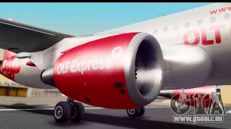 Airbus A320-200 OLT Express pour GTA San Andreas vue arrière