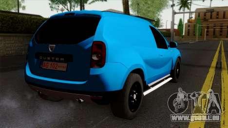 Dacia Duster Van pour GTA San Andreas laissé vue