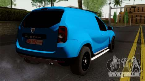 Dacia Duster Van für GTA San Andreas linke Ansicht
